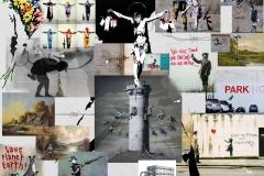 Banksy-Poster-Montage-Din-A0